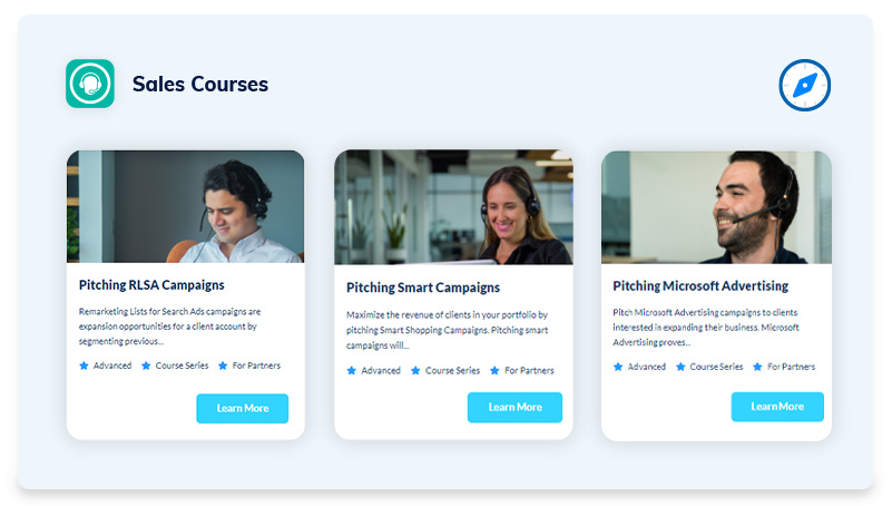 Sales Courses - White Shark Media's Compass